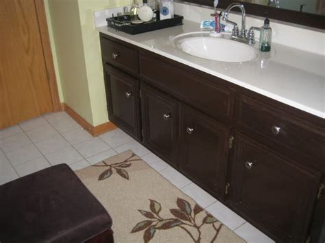 how to paint bathroom cabinets dark brown white painted cabinets before and after