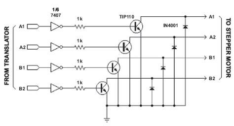 transistor bipolar stepper motor driver 3 8 4 stepper motors engineering360