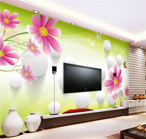 Living Room Wallpaper 3d Background by 3d Stereoscopic Tv Wall Murals Living Room Sofa Background