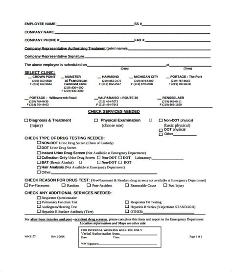 dot physical form sle dot physical form 6 free documents in pdf