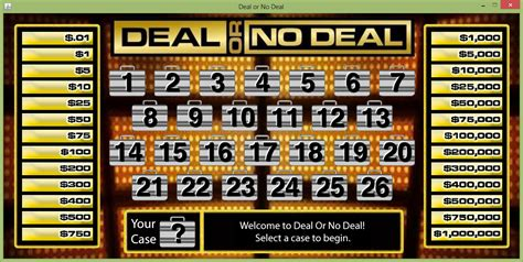 Deal Or No Deal Game Java Program By Funwithjava On Deal Or No Deal