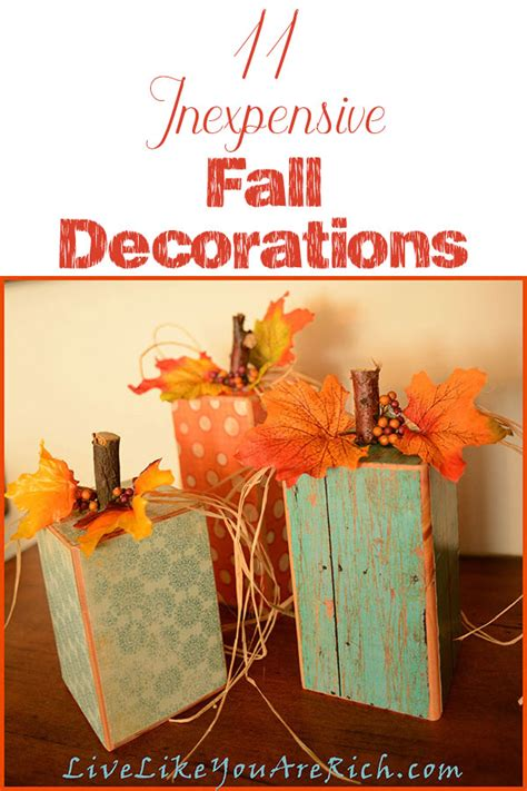 cheap fall decorations 11 inexpensive fall decorations live like you are rich