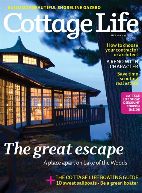 Cottage Living Magazine by April 2008 Cottage Magazines Cottage