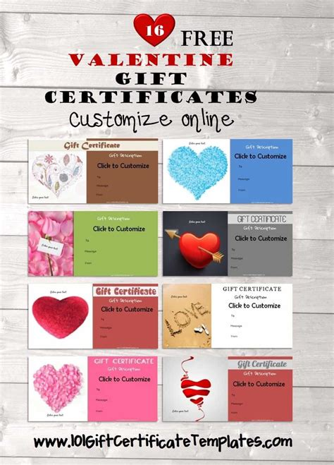 valentines day template card maker valentines day gift certificates