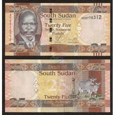 Sudan Selatan 5 Pounds 2011 Unc south sudan 25 pounds 2011 p 8 unc