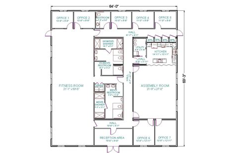 commercial floor plan commercial building plans modular fitness center home