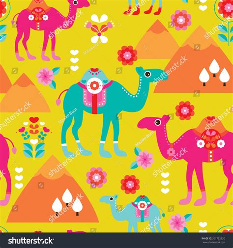 themes meaning in arabic seamless kids camel illustration background pattern arabic