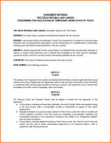Template Agreement Between Two by Doc 585603 Agreement Between Two Template