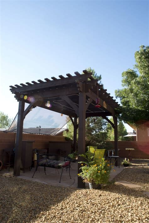 Shade In Utah S Dixie Diy Timber Frame Pergola Western Timber Frame Pergola Kits