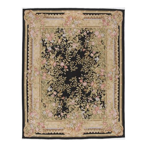 10 X 14 Area Rugs by Shop Versailles Black Rectangular Indoor Knotted