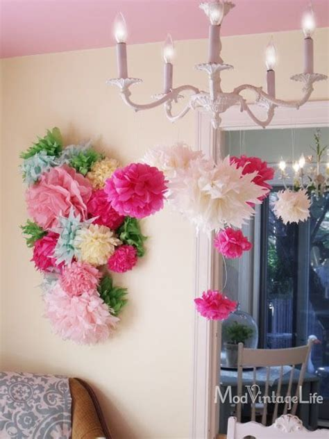 paper flower wall tutorial 255 best balloons tassles streamers and ribbons pom