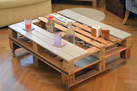Tables Basses En Palettes by Tables Basse En Palettes Acier Et Roulettes Cr 233 Ateur