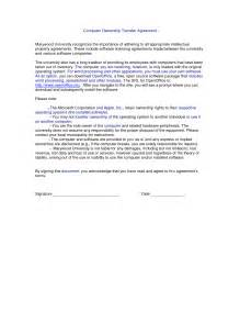property transfer agreement template 10 best images of property transfer agreement sle