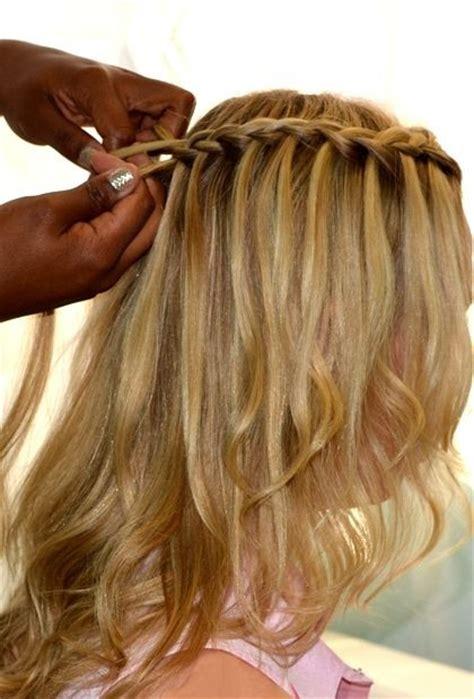 11 waterfall french braid hairstyles long hair ideas