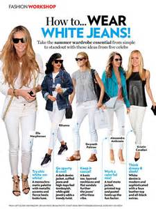 Style Ideas by 20 Style Tips On How To Wear White Jeans Ideas