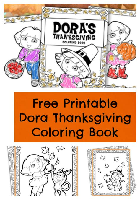 dora thanksgiving coloring page thanksgiving archives jinxy kids