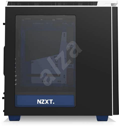 Nzxt H440 Black Black Blue White 1 nzxt h440 envyus matt black white blue pc