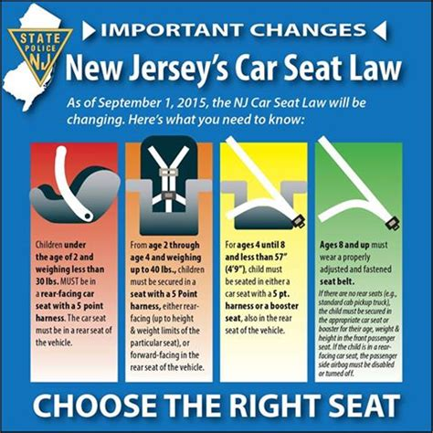 ny state car seat new car seat regulations take effect in new jersey sept 1