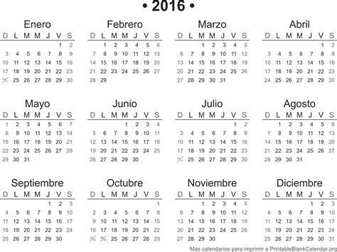 Calendario Imprimir Calendario 2016 Para Imprimir Calendarios Para Imprimir