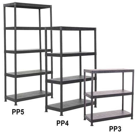 3 4 5 tier value plastic storage shelving units ebay