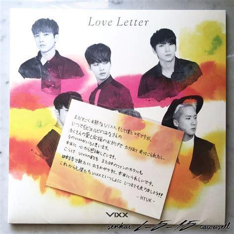 Letter Vixx Vixx Letter Album Japanese Ver With Hyuk Note K Wave On Carousell