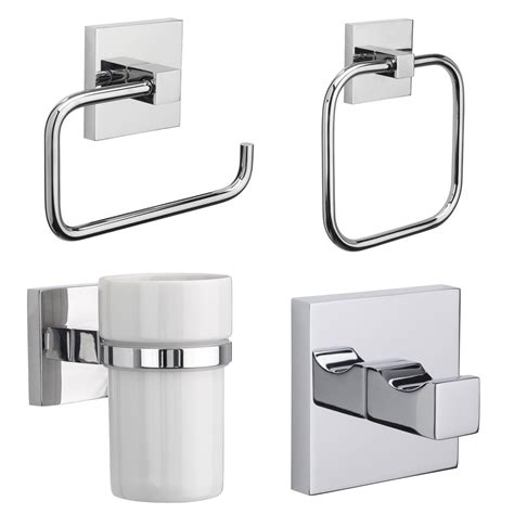 bathroom accessories wall mounted croydex brompton flexi fix chrome wall mounted x plate