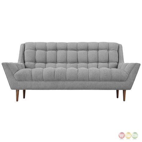 gray tufted loveseat response contemporary button tufted upholstered loveseat