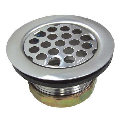 flat kitchen sink strainer assembly in chrome danco