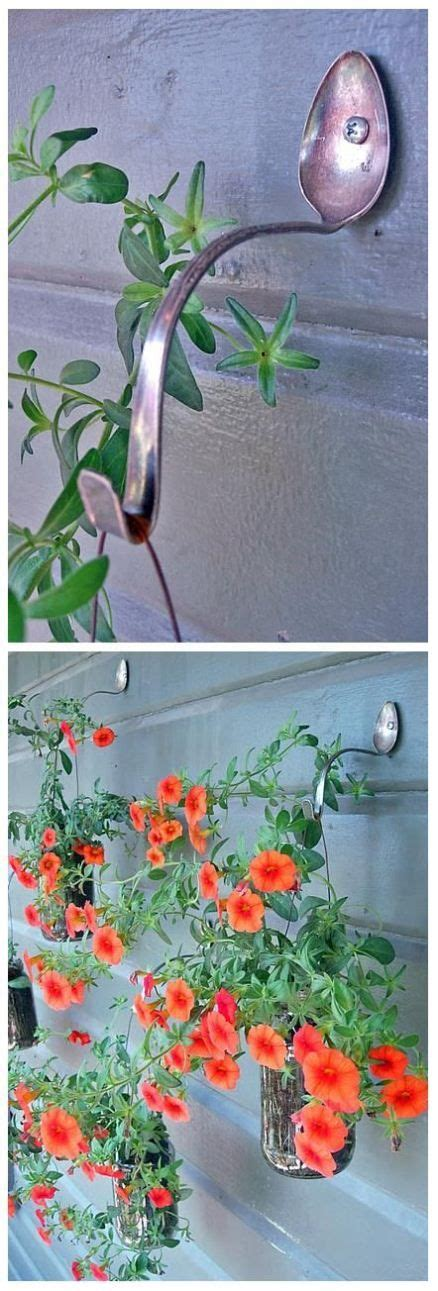 Hanging Plant Hooks - diy spoon hanging plant hooks diy