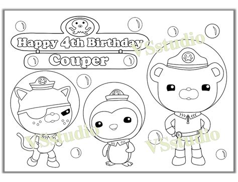 coloring pages pdf file octonauts birthday party coloring page activity pdf file