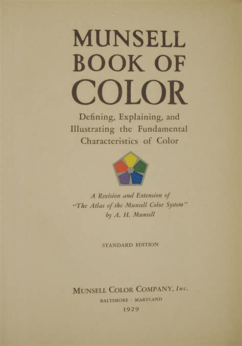 munsell color book the munsell book of color 1929 foreward by f g cooper