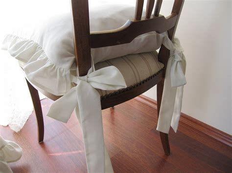 Ruffled Chair Cushions by Items Similar To Ruffled Chair Cushions Set Of 4 Pcs 14