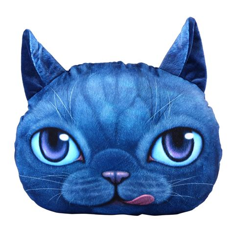 stuffed cat pillow 3d soft stuffed plush cat pillow home decor