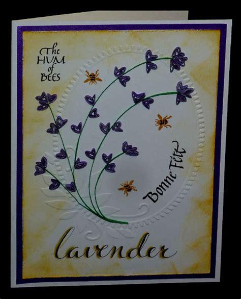 Bonnes White Mc T2909 1 misc challenges cards quot mc aug 12 lavender bees bonne