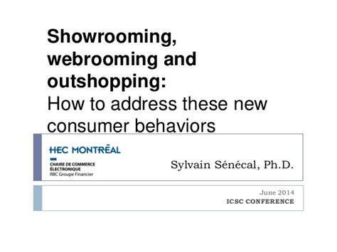 showrooming webrooming and outshopping how to address