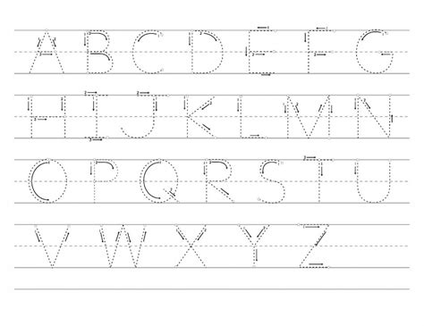 printable alphabet tracing pages abc tracer pages kiddo shelter