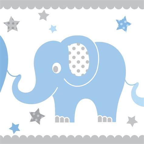 kinderzimmer bordure grau kinderzimmer bord 252 re elefanten blau grau selbstklebend