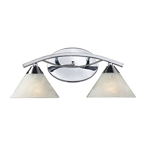 Bathroom Vanity Light Fixtures Chrome Elk Lighting 17021 2 Elysburg 2 Light Contemporary Bathroom Vanity Lighting Fixture Polished