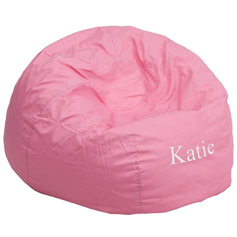 personalized oversized solid light pink bean bag chair dg