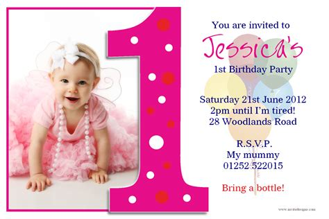 1st Birthday Invite Templates personalised 1st birthday photo
