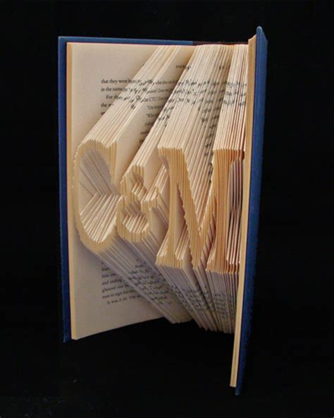 Book Origami Letters - folded book