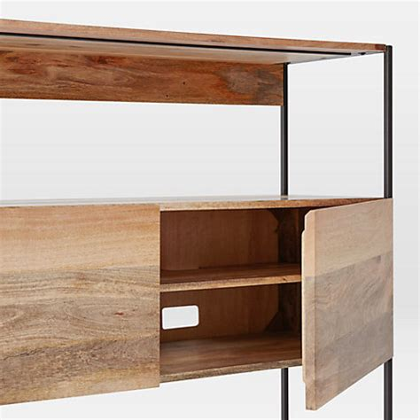 west elm shelving buy west elm industrial modular 124cm open and closed