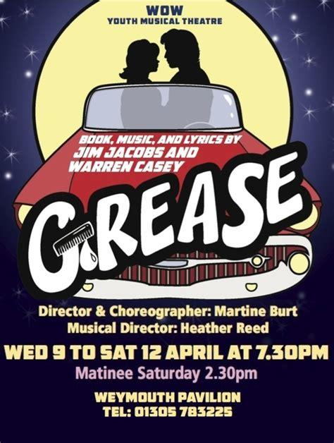 12 best youth extra auditorium grease at wow youth musical theatre performances april 9
