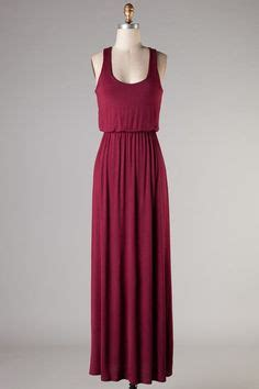 Gamis Polos Maxi Maroon clothing apparel tanks and clothing on