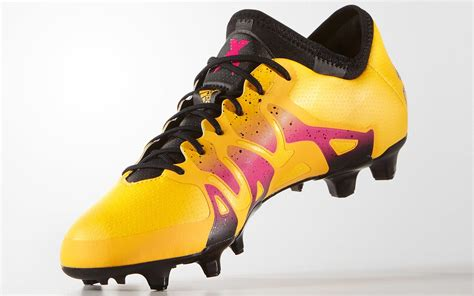 black pink yellow solar gold adidas x 15 1 boots released first 2016