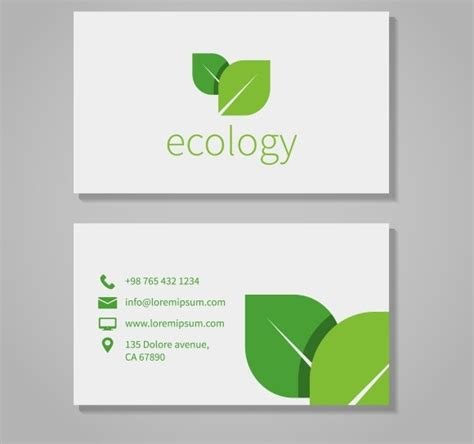 eco business card templates eco company business card template product mockups on