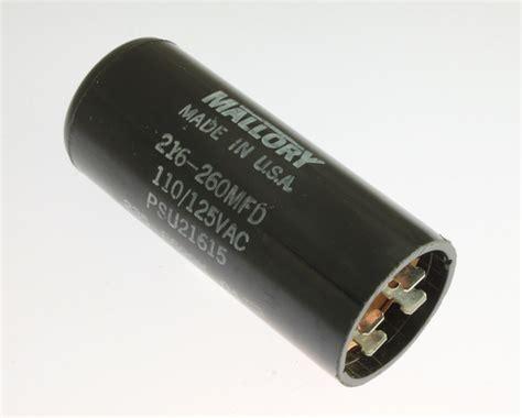 mallory motor start capacitors psu21615 mallory capacitor 216uf 125v application motor start 2020071557