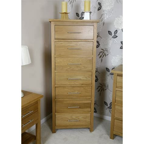 bedroom tall chest of drawers delamere oak tall 7 drawer bedroom chest of drawers best