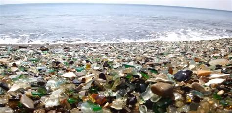 Glass Beach Russia by Rubbish Bottles Turn Russian Beach Into Something