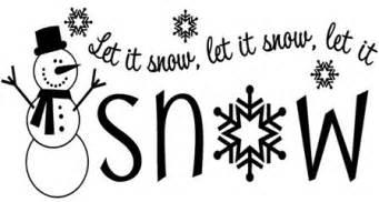 let is snow testo let it snow vinyl lettering home decor decal
